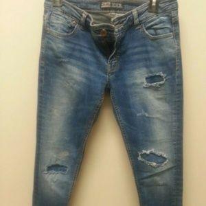 Zara Basic Denim Jeans Light Wash Size 6
